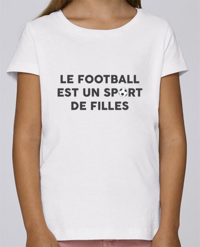T-shirt Fille Mini Stella Draws Le football est un sport de filles par tunetoo