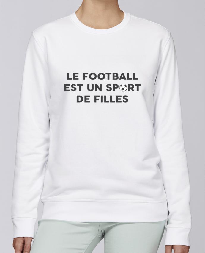 Sweat Col rond Unisexe Stanley Stella Rise Le football est un sport de filles par tunetoo