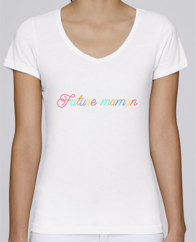 T-shirt femme brodé Stella Chooses Future maman par tunetoo