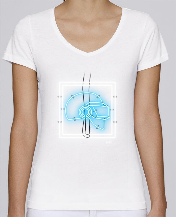 T-shirt Femme Col V Stella Chooses ELEKTRO ICON I par rub