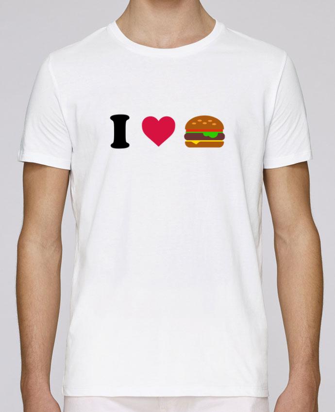 T-Shirt Col Rond Stanley Leads I love burger par tunetoo