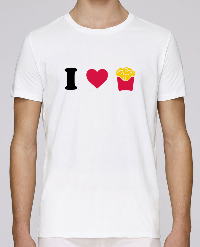 T-Shirt Col Rond Stanley Leads I love fries par tunetoo