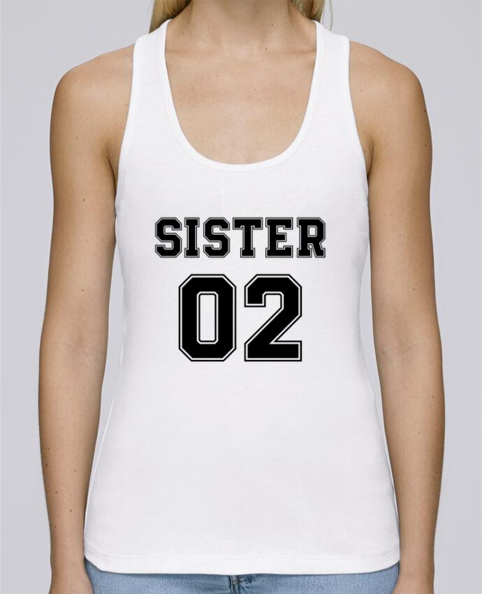 Débardeur bio femme Stella Dreams Sister 02 par tunetoo en coton Bio