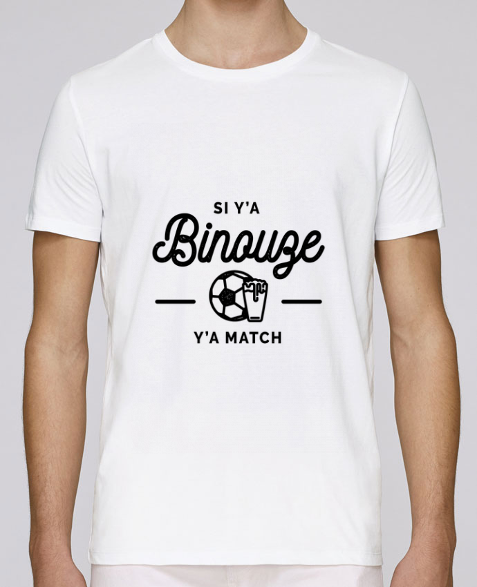 T-Shirt Col Rond Stanley Leads Si y'a bineuse y'a match par Rustic