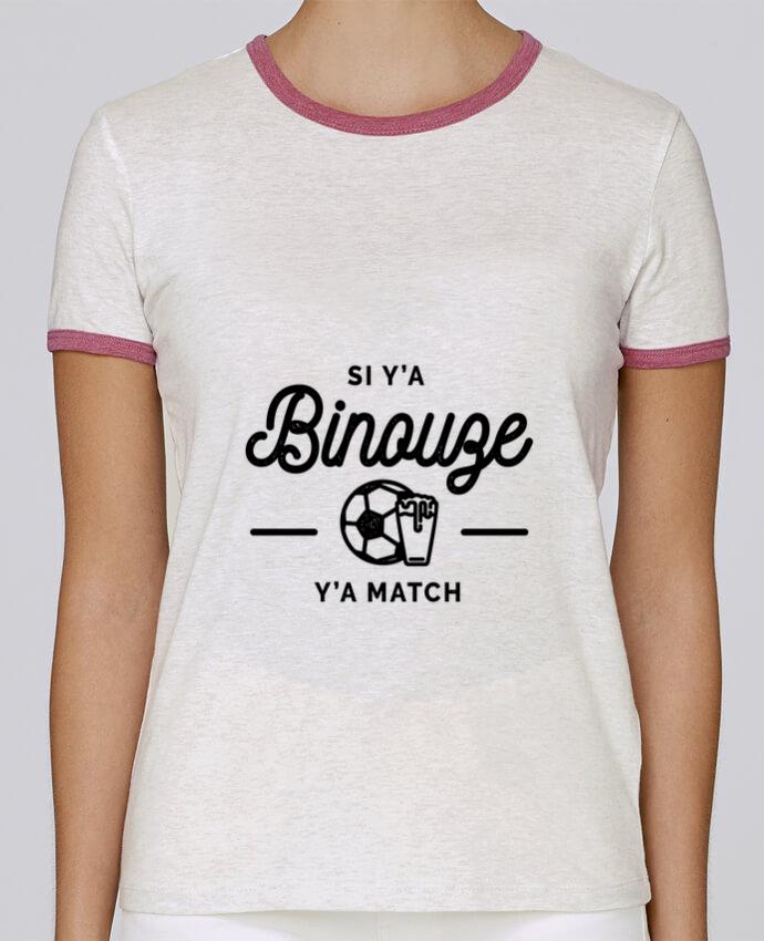 T-shirt Femme Stella Returns Si y'a bineuse y'a match pour femme par Rustic