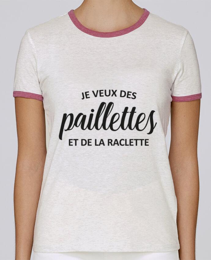 T-shirt Femme Stella Returns Je veux des paillettes et de la raclette pour femme par FRENCHUP-MAYO