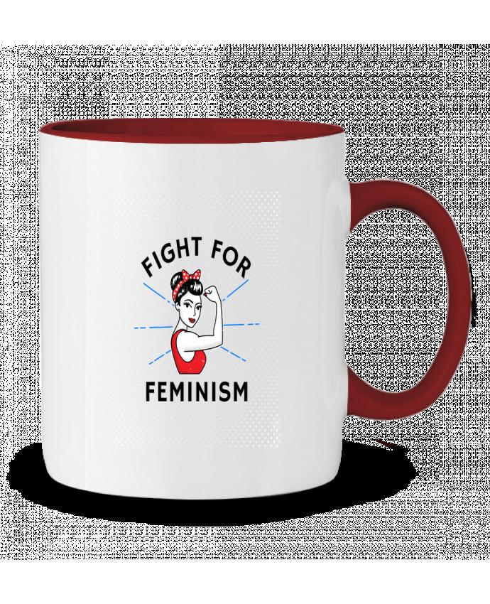 Mug en Céramique Bicolore Fight for féminism Vise Shine your life