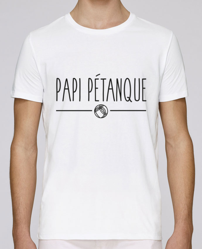 T-Shirt Col Rond Stanley Leads Papi pétanque par FRENCHUP-MAYO