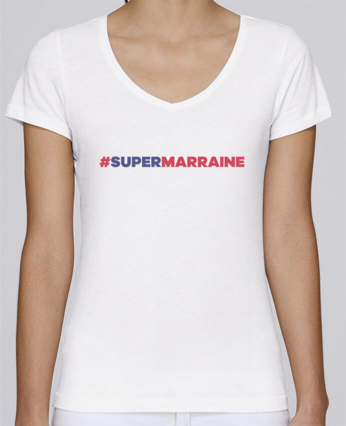 T-shirt Femme Col V Stella Chooses #Supermarraine par tunetoo
