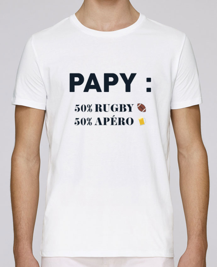 T-Shirt Col Rond Stanley Leads Papy 50% rugby 50% apéro par tunetoo