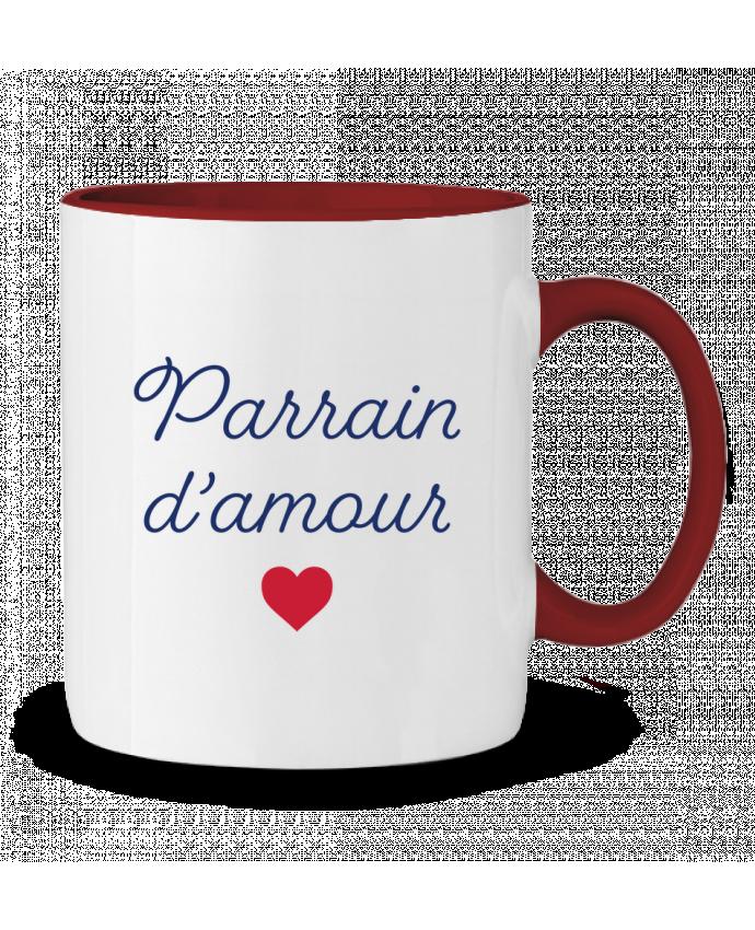 Mug en Céramique Bicolore Parrain d'amour tunetoo