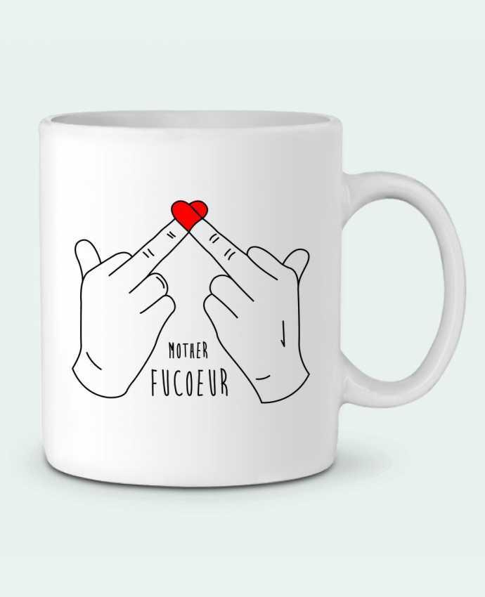 Mug en Céramique Mother FuCœur par tunetoo