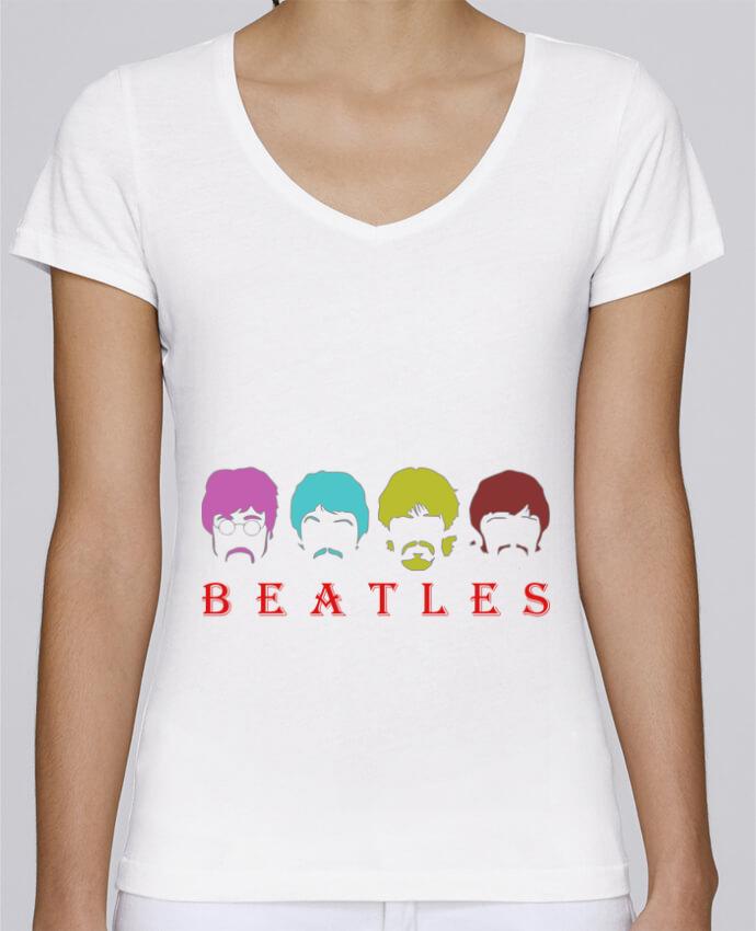 T-shirt Femme Col V Stella Chooses BEATLES par LOGOPAT