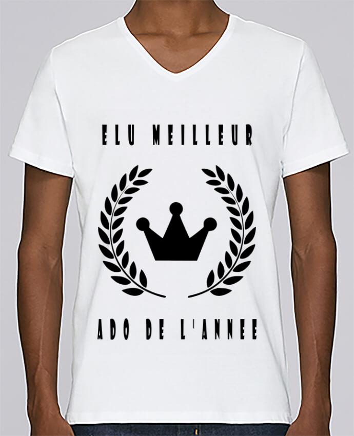 T shirt Col V Homme Stanley Relaxes ELU MEILLEUR ADO par LOGOPAT
