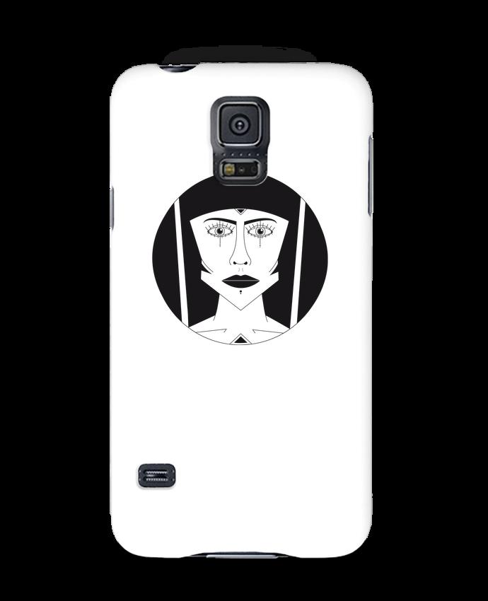 Coque 3D Samsung Galaxy S5 Visage géométrique par Ambrestr
