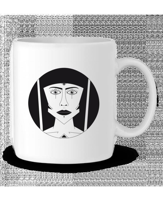 Mug en Céramique Visage géométrique par Ambrestr