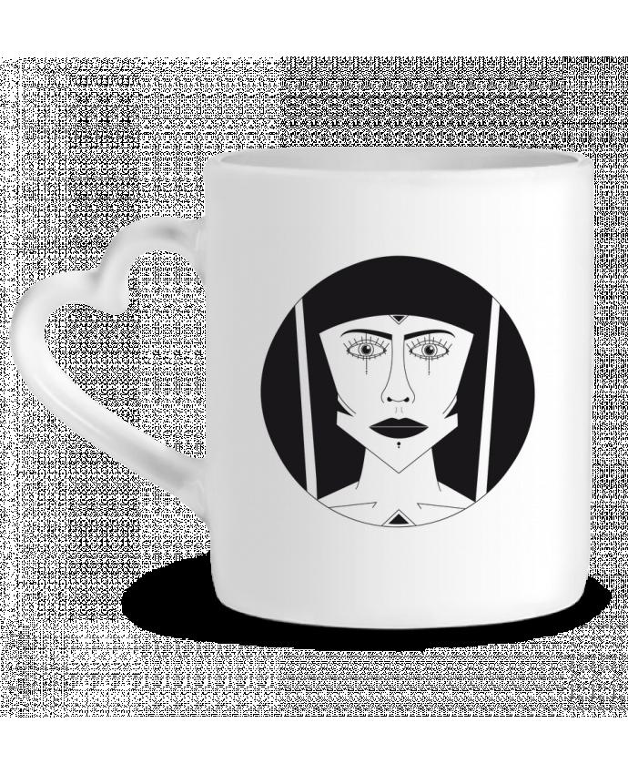 Mug Coeur Visage géométrique par Ambrestr