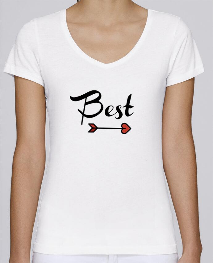 T-shirt Femme Col V Stella Chooses Best Friends par tunetoo