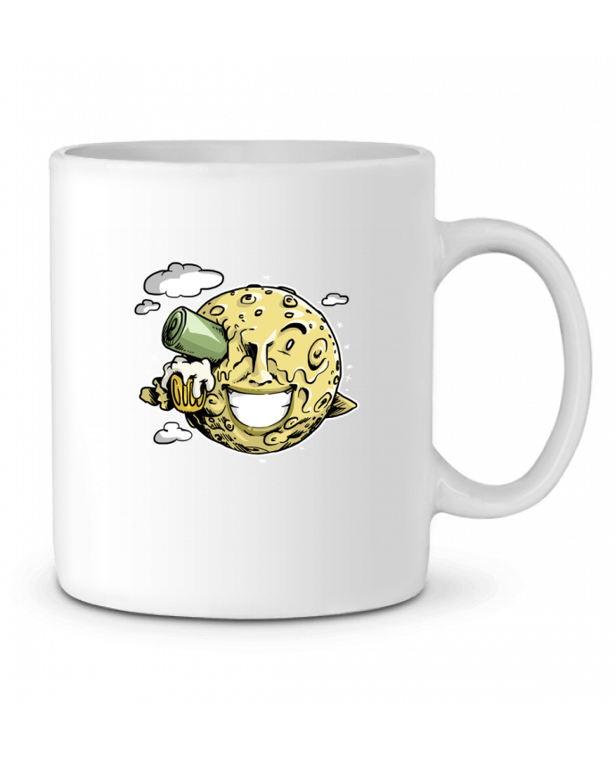 Mug en Céramique Lune & bière par Tomi Ax - tomiax.fr