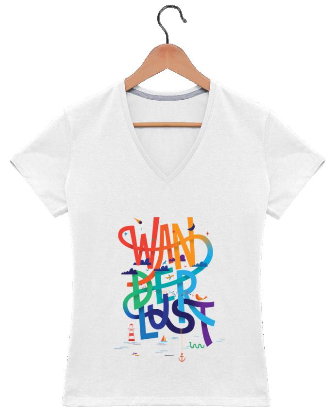 T-shirt Col V Femme 180 gr WanderLust par chriswharton