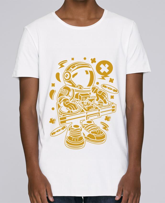 T-shirt Homme Oversized Stanley Skates Dj Astronaute Golden Cartoon | By Kap Atelier Cartoon par Kap Atel