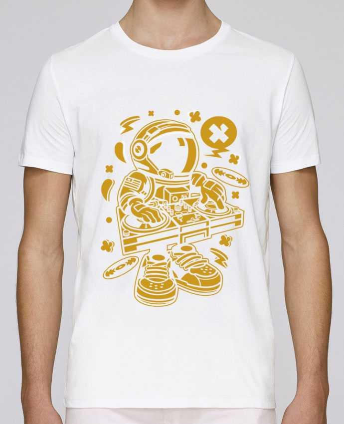 T-Shirt Col Rond Stanley Leads Dj Astronaute Golden Cartoon | By Kap Atelier Cartoon par Kap Atelier