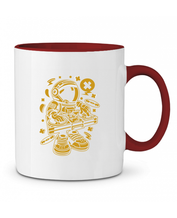 Mug en Céramique Bicolore Dj Astronaute Golden Cartoon | By Kap Atelier Cartoon Kap Atelier