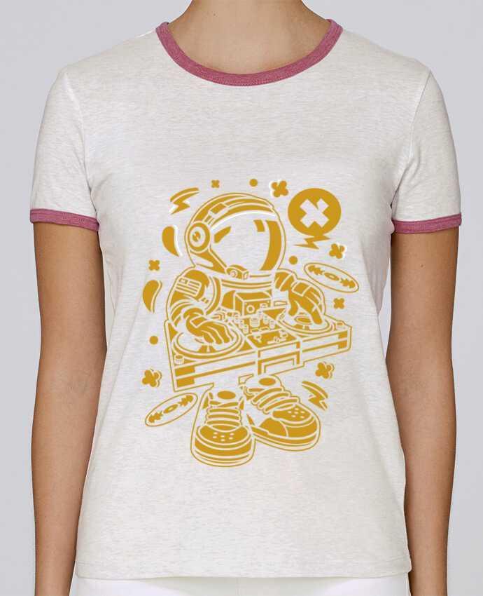 T-shirt Femme Stella Returns Dj Astronaute Golden Cartoon | By Kap Atelier Cartoon pour femme par Kap Atelier