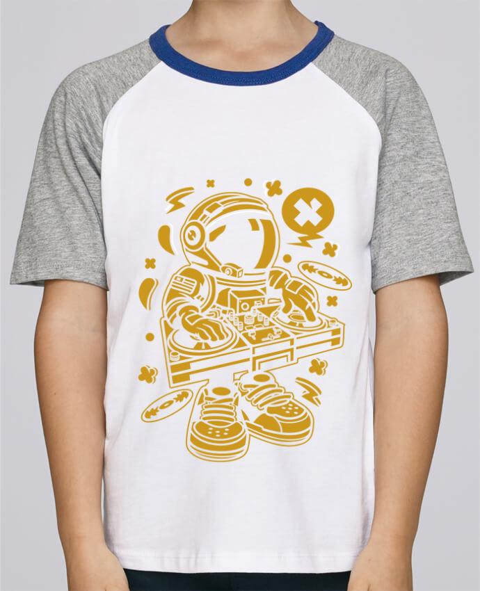 Tee-Shirt Enfant Stanley Mini Jump Short Sleeve Dj Astronaute Golden Cartoon | By Kap Atelier Cartoon par Kap Atelier