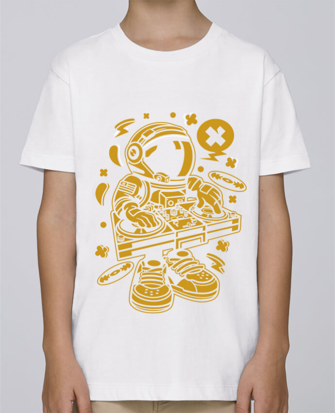 Tee Shirt Garçon Stanley Mini Paint Dj Astronaute Golden Cartoon | By Kap Atelier Cartoon par Kap Atelier