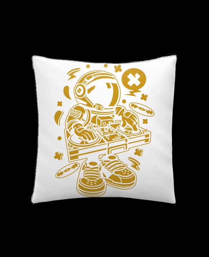 Coussin Synthétique Doux 41 x 41 cm Dj Astronaute Golden Cartoon | By Kap Atelier Cartoon par Kap Atelier