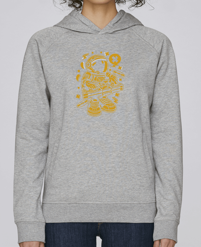 Sweat Capuche Femme Stanley Base Dj Astronaute Golden Cartoon | By Kap Atelier Cartoon par Kap Atelier