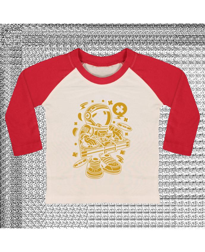 T-shirt Bébé Baseball Manches Longues Dj Astronaute Golden Cartoon | By Kap Atelier Cartoon par Kap Atelier