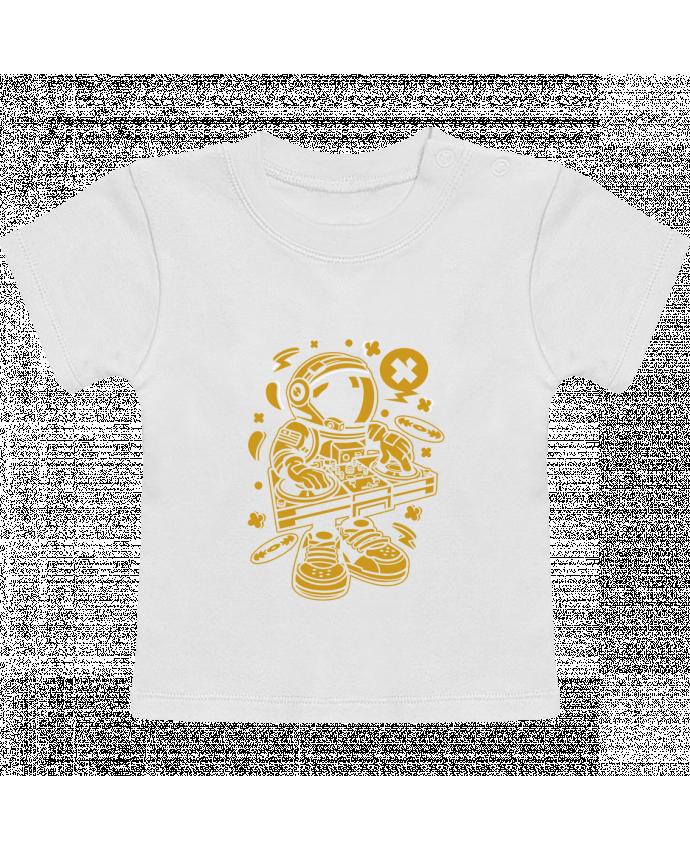 T-Shirt Bébé Manches Courtes Dj Astronaute Golden Cartoon | By Kap Atelier Cartoon manches courtes du designer Kap A
