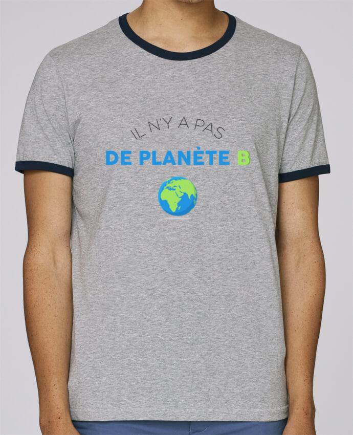 T-Shirt Ringer Contrasté Homme Stanley Holds Il n'y pas de planète B pour femme par tunetoo