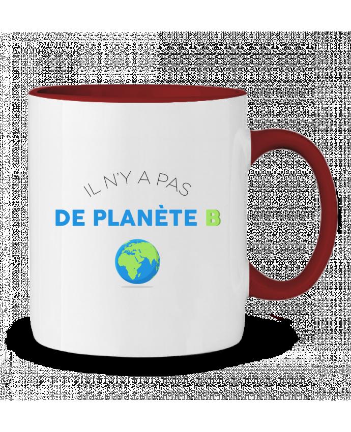 Mug en Céramique Bicolore Il n'y pas de planète B tunetoo