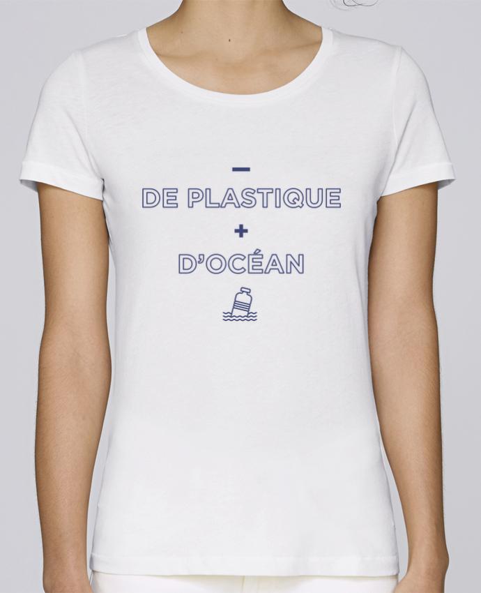 T-shirt Femme Stella Loves - de plastique + d'océan par tunetoo