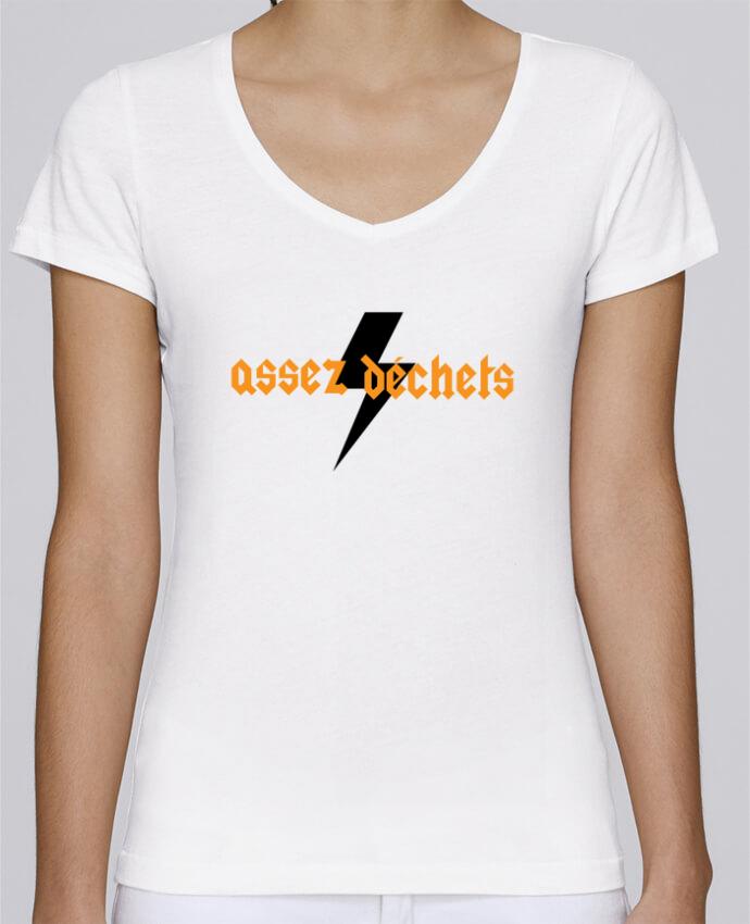 T-shirt Femme Col V Stella Chooses Assez déchets par tunetoo