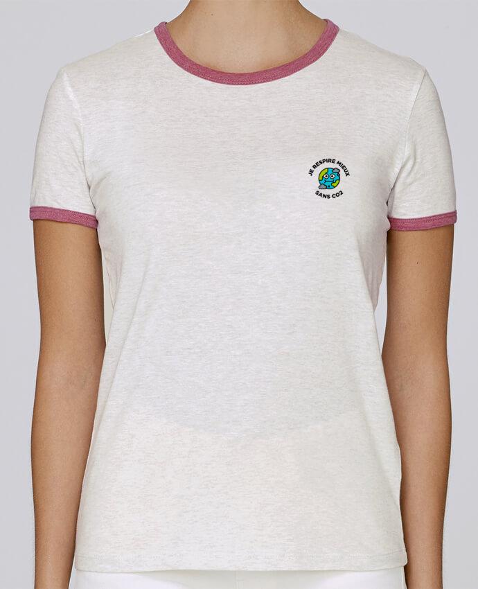 T-shirt Femme Stella Returns Je respire mieux sans CO2 pour femme par tunetoo