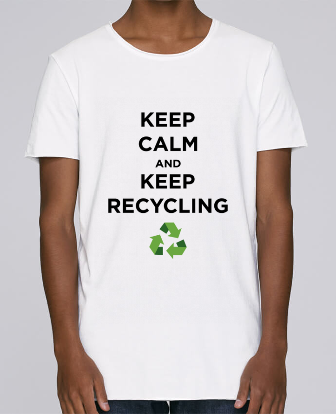 T-shirt Homme Oversized Stanley Skates Keep calm and keep recycling par tunetoo