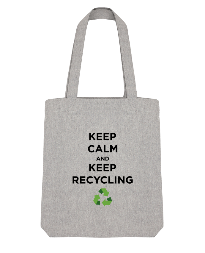 Tote Bag Stanley Stella Keep calm and keep recycling par tunetoo