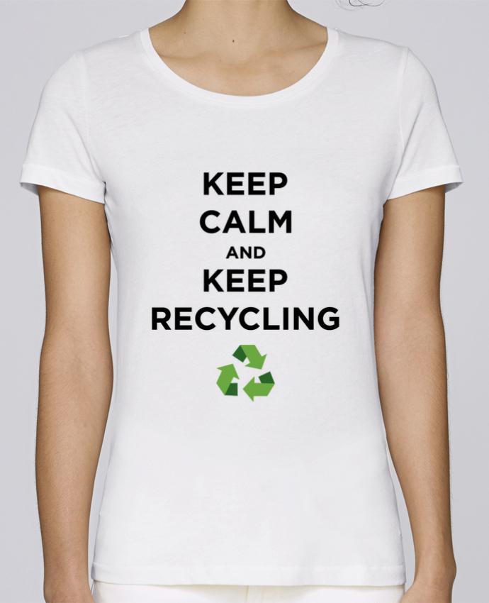 T-shirt Femme Stella Loves Keep calm and keep recycling par tunetoo