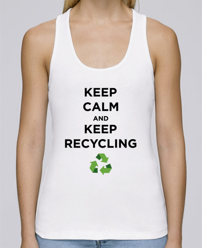 Débardeur bio femme Stella Dreams Keep calm and keep recycling par tunetoo en coton Bio