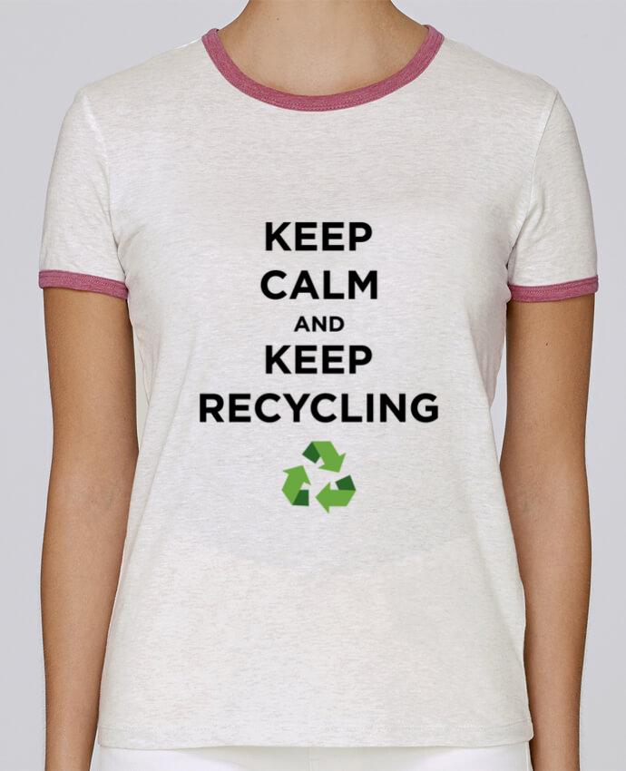 T-shirt Femme Stella Returns Keep calm and keep recycling pour femme par tunetoo