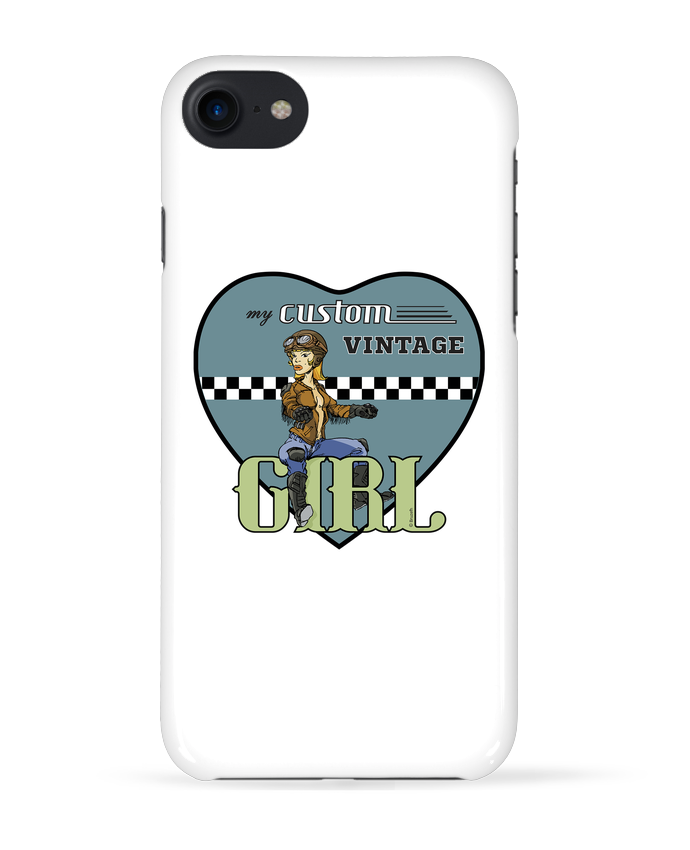 Coque 3D Iphone 7 My custom vintage girl de BRUZEFH