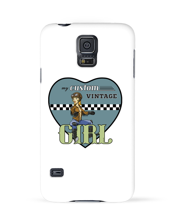 Coque 3D Samsung Galaxy S5 My custom vintage girl par BRUZEFH