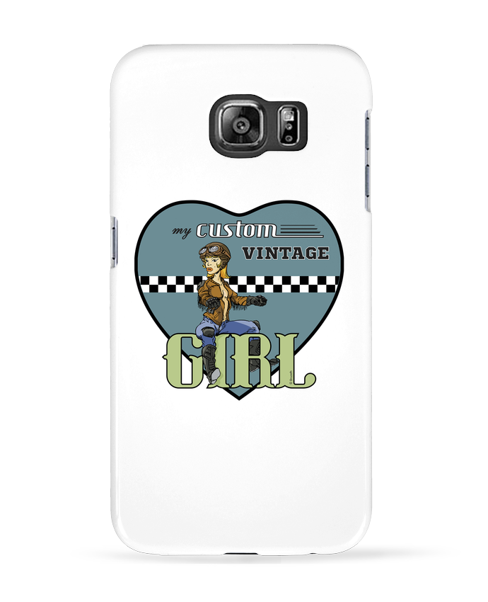Coque 3D Samsung Galaxy S6 My custom vintage girl - BRUZEFH