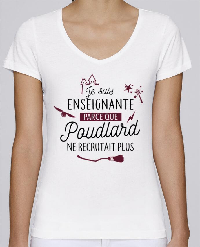 T-shirt Femme Col V Stella Chooses Poudlard / Enseignant par La boutique de Laura