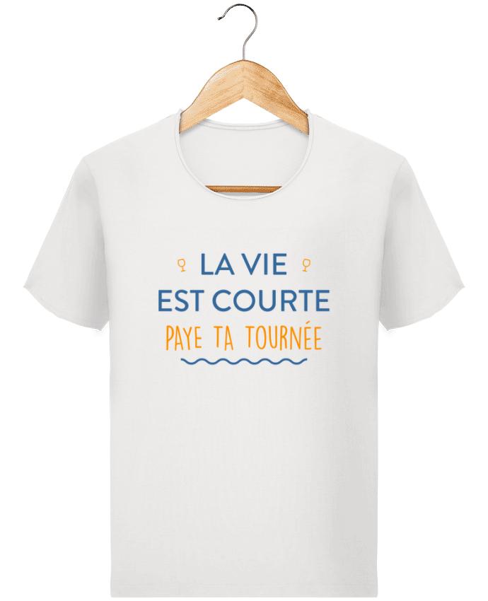 T-shirt Homme vintage La vie est courte paye ta tournée par tunetoo