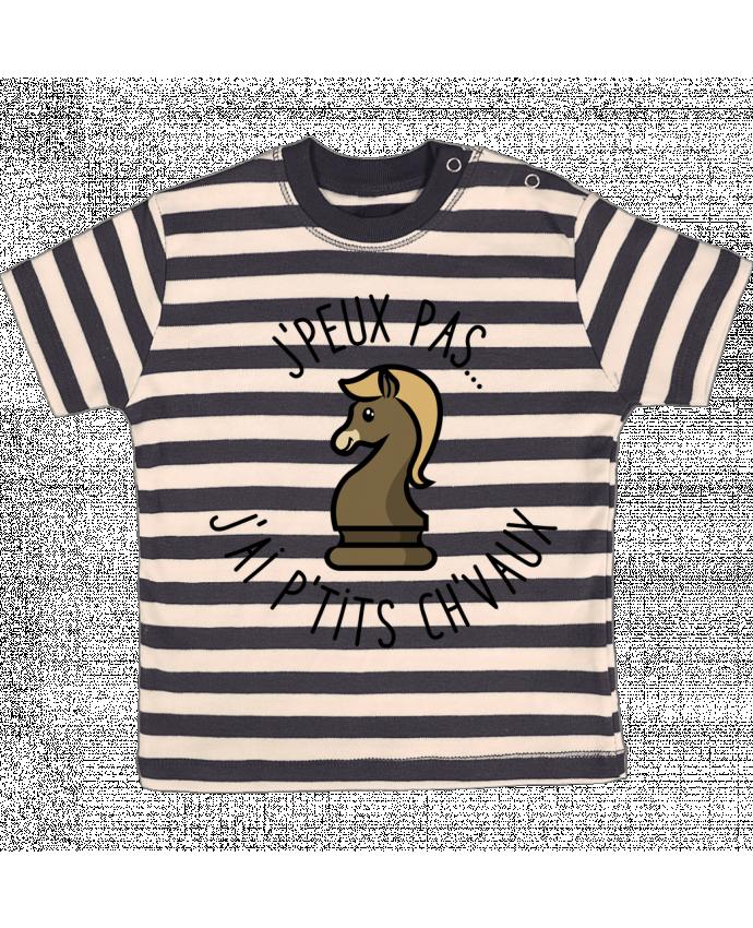T-shirt Bébé à Rayures je peux pas j'ai petits chevaux par Lamouchenoire38